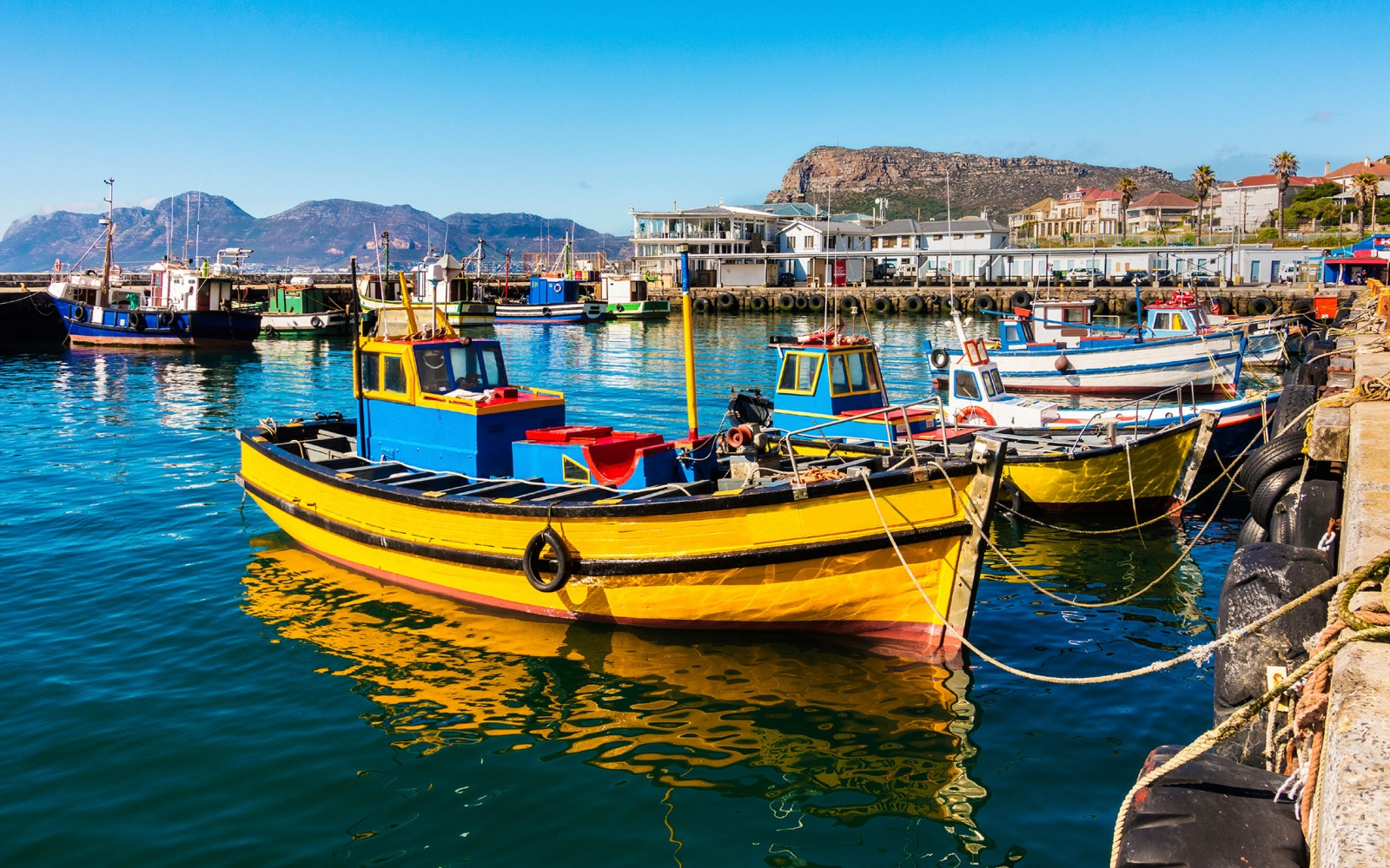 fishing boats in Cape Town, S.A.