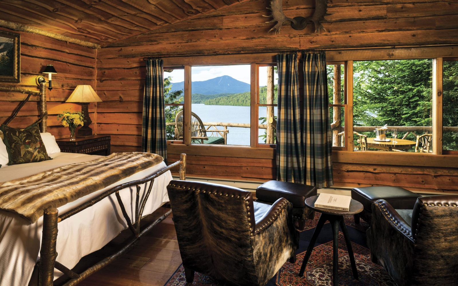 lake view room at Lake Placid Lodge in Lake Placid, NY
