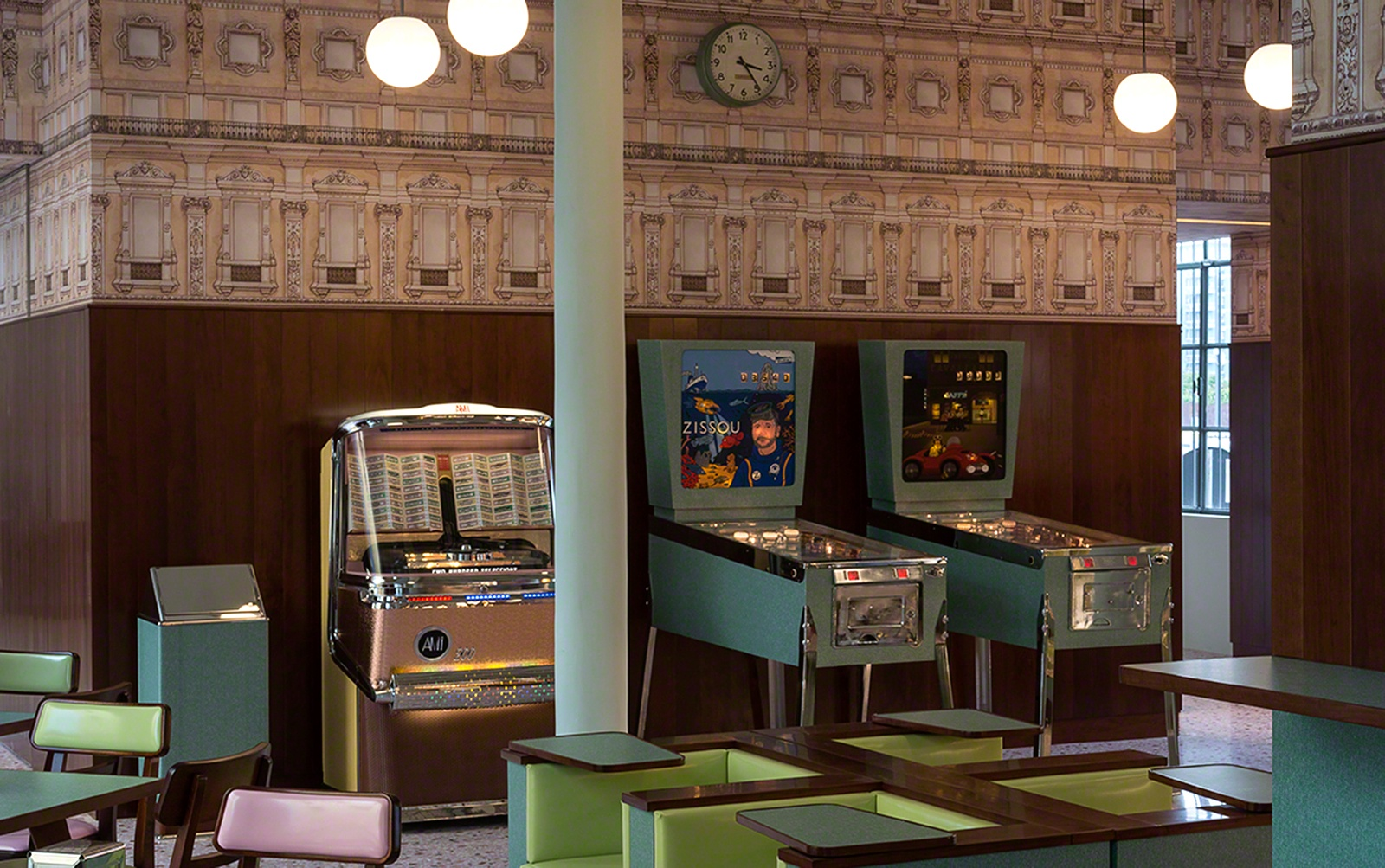Wes Anderson designed bar
