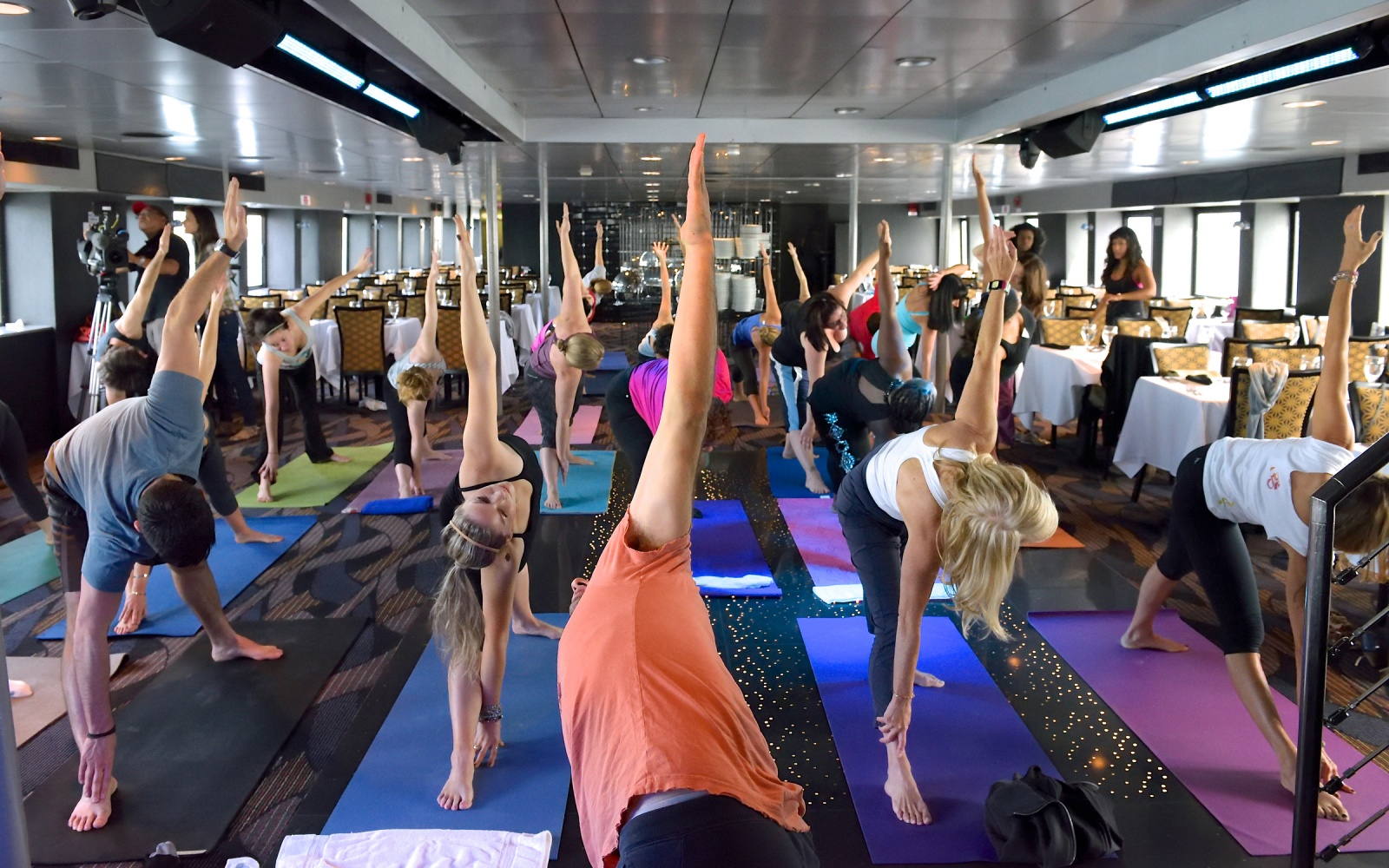 Yoga on the Water in NYC with Spirit of New York