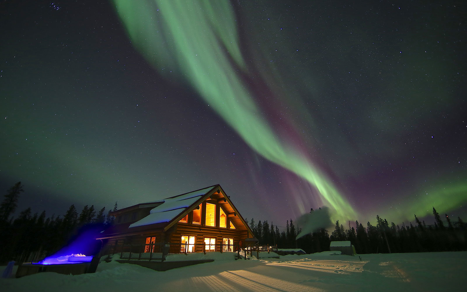 Explore the northern lights in Yukon, Canada.
