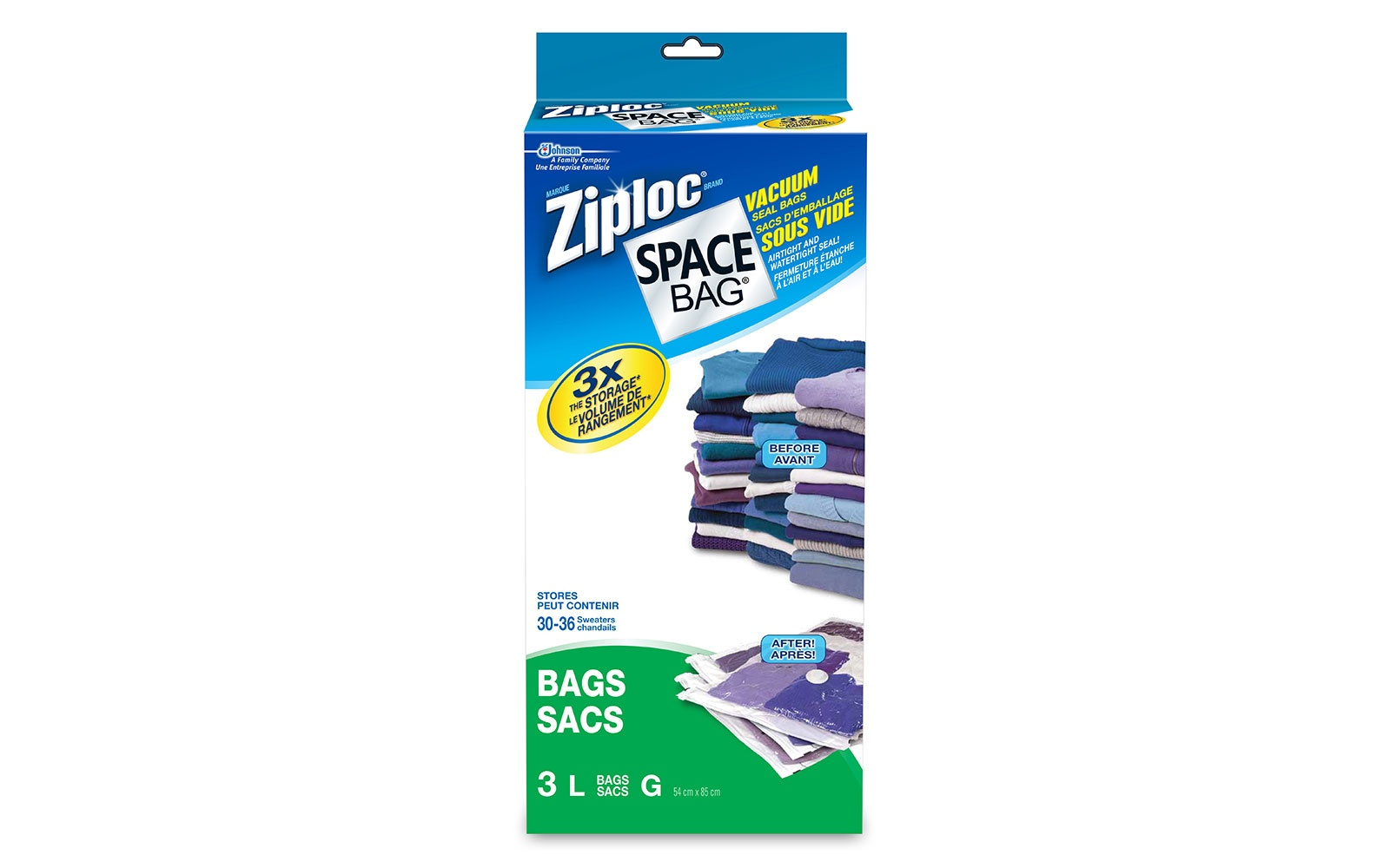 Ziploc space saving suitcase travel bags