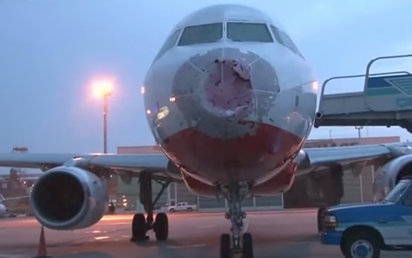 Pilot Impressively Lands Plane 'Blind' After Hail Destroys Windshield