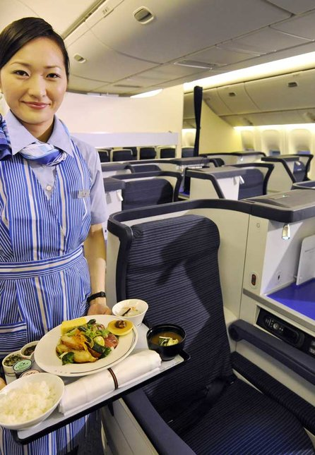 A cabin attendant of Japan's All Nippon