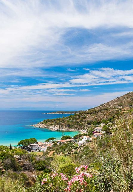 Cavoli beach on Elba Island off the coast of Tuscany