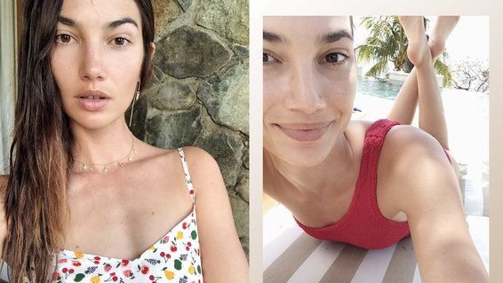 Lily Aldridge's Bright Bikini Will Inspire You to Book a Tropical Vacation ASAP