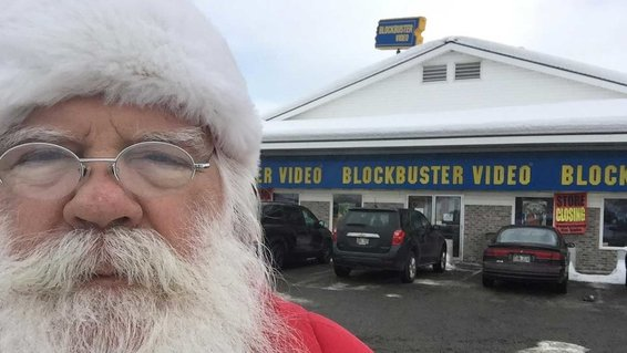 Santa Claus at North Pole Blockbuster