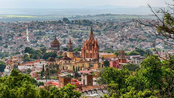 View of San Miguel de Allende, Mexico