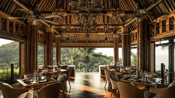 View from the dining room at the Four Seasons Koh Samui