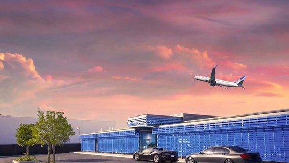 United's private terminal at LAX (render)