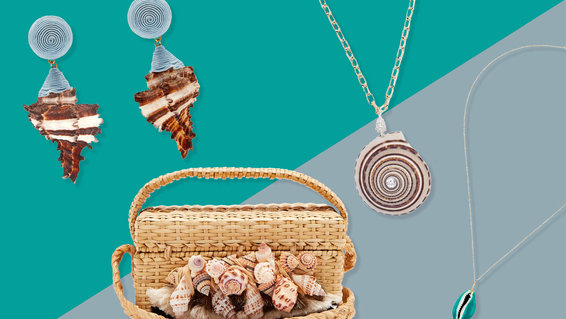 seashell jewelry and accessories
