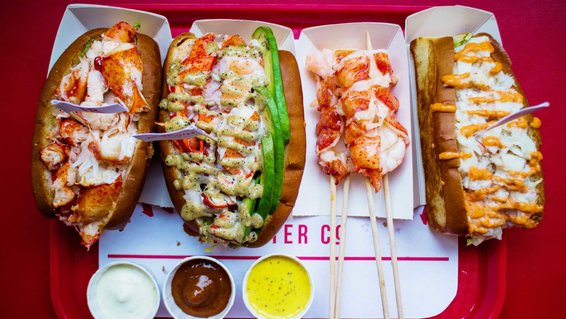 Lobster rolls from Highroller Lobster Co., in Portland, Maine