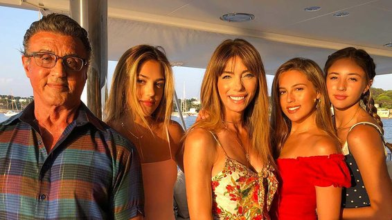 Sylvester Stallone and family on vacation