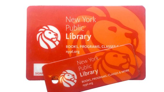 New York City public library card