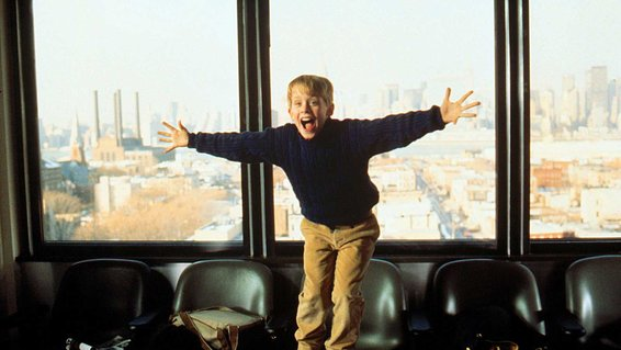 Scene from the film, Home Alone 2