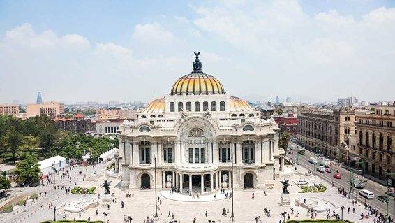 Palacio de Bellas Artes in Mexico City's Centro neighborhood
