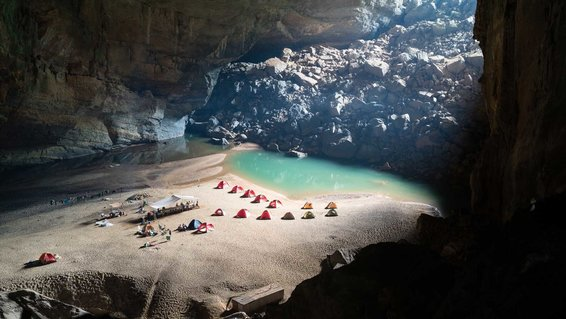 The cave is nearly Sondoong cave in Quang Binh provice, Vietnam