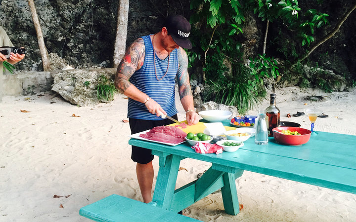 Chef April Bloomfield at NyamJam Food & Music Festival in Oracabessa, Jamaica