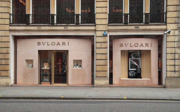 C16627 The Bulgari jewellry store on Sloane Street, London, SW1, England.