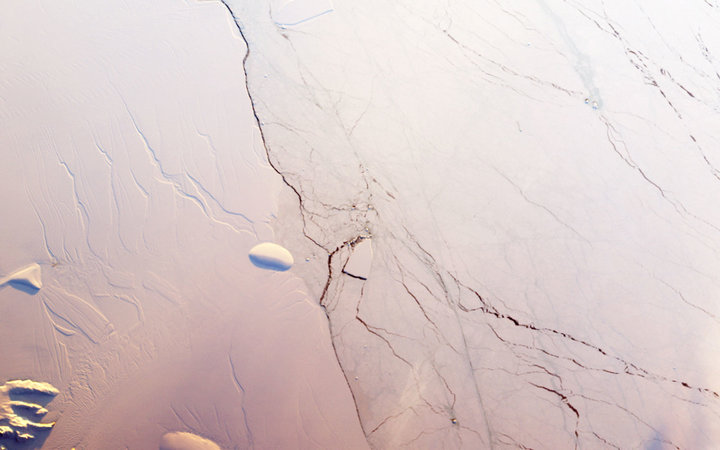 Antarctic Ice Shelf Crack