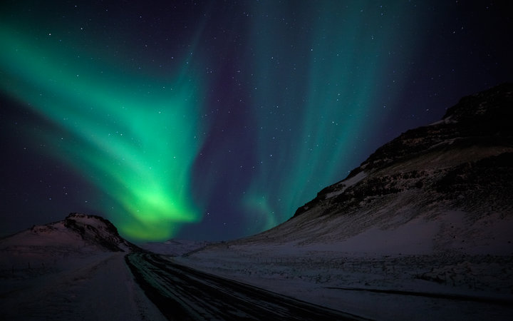 Reykjavik lights out for Northern Lights
