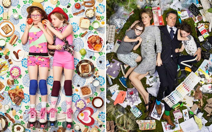 This Photographer Is Making Portraits of People Lying In Their Own Trash