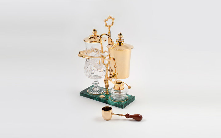 Gold plated coffee maker