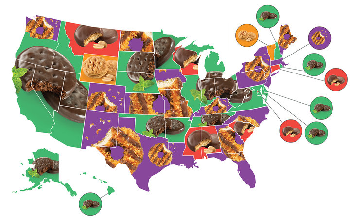 Favorite Girl Scout Cookies in Each State
