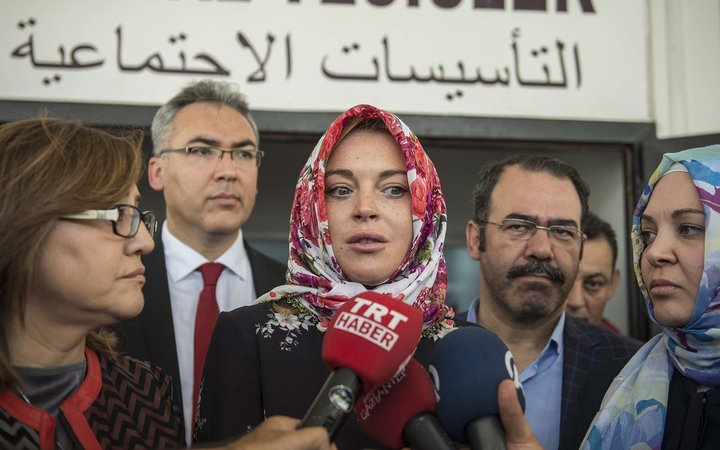 Lindsay Lohan: I Was 'Racially Profiled' at the Airport for Wearing a Headscarf