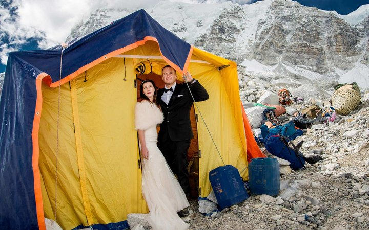 First couple married at Everest Base Camp