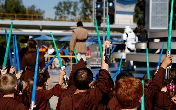 Star Wars Jedi Training Academy at Walt Disney Co.'s Disneyland Park, part of the Disneyland Resort, in Anaheim, California, U.S.