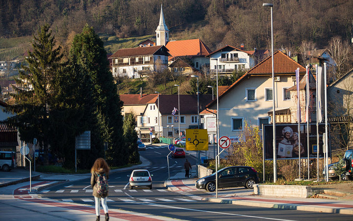 SEVNICA, SLOVENIA - NOVEMBER 29:  A general view of Kvedrova cesta on November 29, 2016 in Sevnica, Slovenia. Born in Slovenia, Melania Trump was raised in the town of Sevnica, by her father, a car salesman, and her mother, a pattern maker at a textile fa