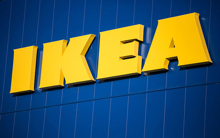 The Ikea AB logo is displayed atop the company's store in Gwangmyeong, Gyeonggi province, South Korea, on Thursday, Dec. 18, 2014. Ikea, the world's largest home-furnishings retailer, opened its first store in South Korea. Photographer: Jean Chung/Bloombe
