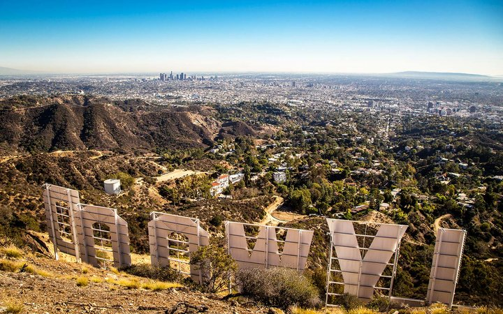 Los Angeles Hollywood Sign Landmarks Hills Sign Activities