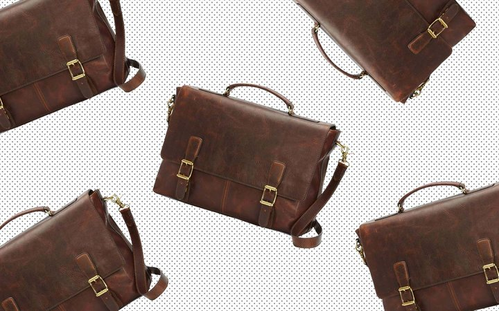 Nordstrom Frye Logan Leather Mens Briefcase Work Bag