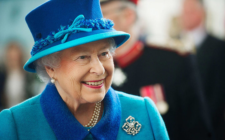 PEMBROKE DOCK, WALES - APRIL 29:  Queen Elizabeth II during a visit to the Chapel to view the restoration and meet local people involved with the project at the Royal Dockyard Chapel during an official visit on April 29, 2014 in Pembroke Dock, United King