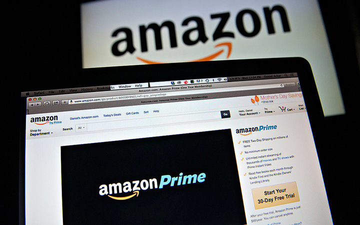 The Amazon.com Inc. Prime logo is displayed on computer screens for a photograph in Tiskilwa, Illinois, U.S., on Wednesday, April 23, 2014. Amazon.com Inc. is scheduled to release earnings figures on April 24. Photographer: Daniel Acker/Bloomberg via Gett