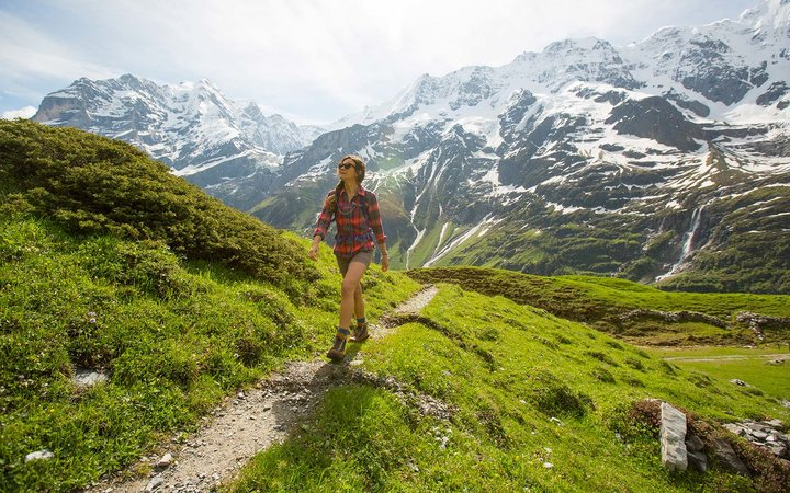 Female Hiking Boots Swiss Alps