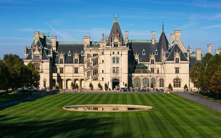 The Biltmore Estate, the largest privately owned home in America, built by George Vanderbilt Asheville North Carolina