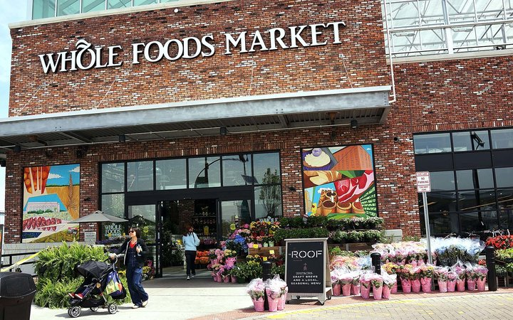 Whole Foods Market, an upscale grocery store that sells many organic and gourmet foods