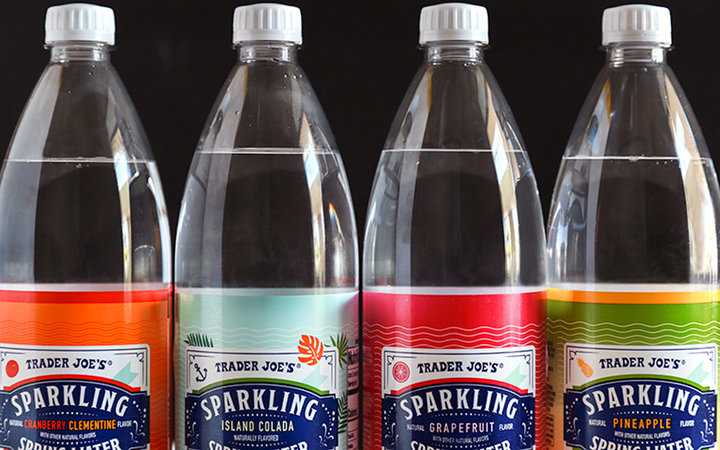 Trader Joe's new fruity-flavored sparkling waters