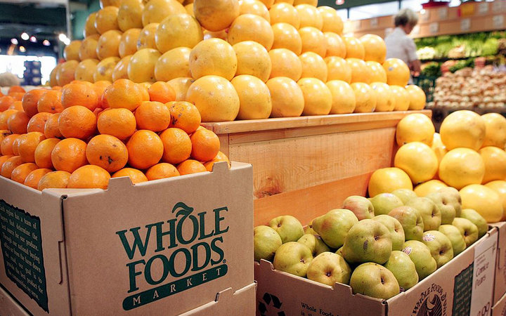 CHICAGO - MAY 04:  Fresh fruit is displayed at a Whole Foods store on May 4, 2006 in Chicago, Illinois. Texas-based natural and organic foods retailer Whole Foods Market Inc. stock shot up 13 percent today after it announced second-quarter profit grew 27