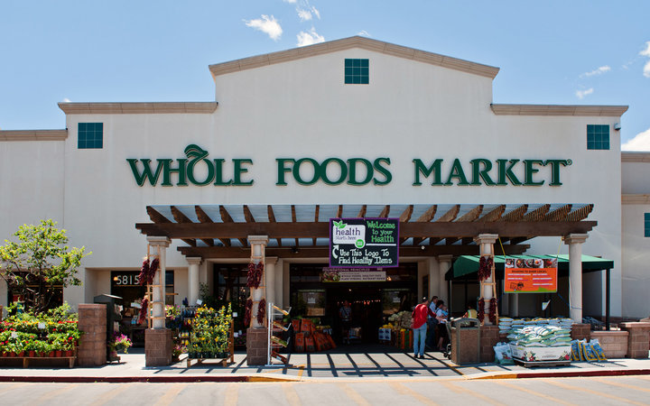 Albuquerque, New Mexico, USA - June 20, 2011: Whole Foods Market Natural and Organic Grocery Store, midday in North East Albuquerque.