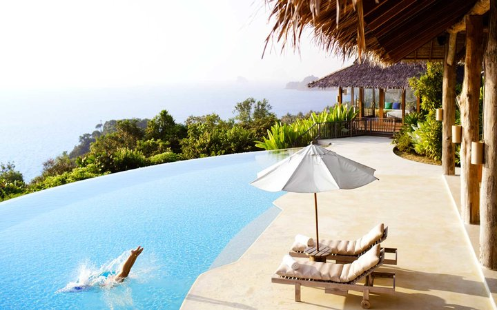 Hilltop Reserve, a three-bedroom private pool villa overlooking Phang Nga Bay at Six Senses Hideaway Yao Noi Thailand