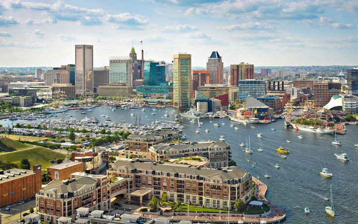 Boats, Harbor, Baltimore, Maryland