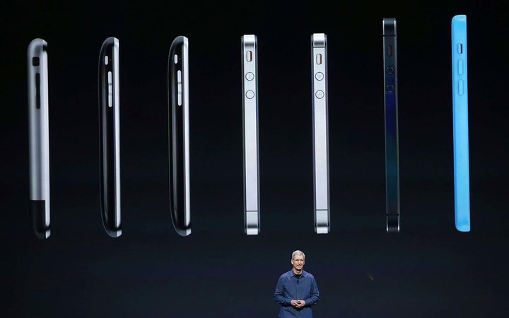 Tim Cook Apple iphone new 8 announcement