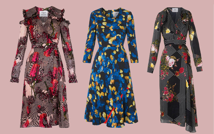 Spliced images of 3 L.K. Bennett Dresses