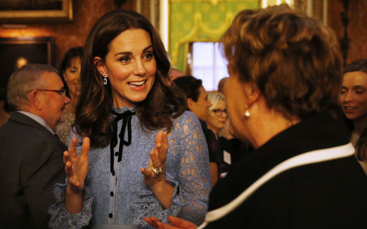 Britain's Catherine, Duchess of Cambridge attends a reception at Buckingham Palace to celebrate World Mental Health Day in central London on October 10, 2017