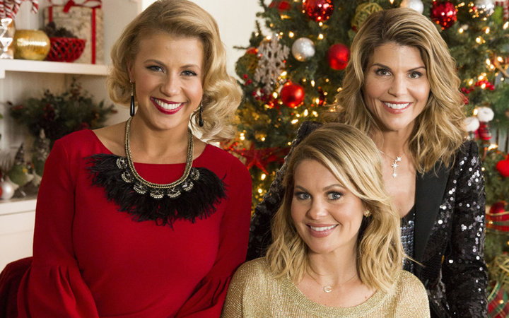 Candace Cameron Bure, Lori Loughlin, and Jodie Sweetin hosting the  Countdown to Christmas  preview