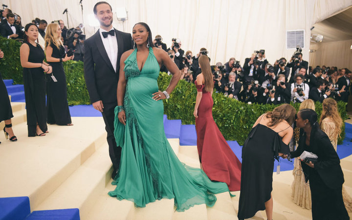 Alexis Ohanian and Serena Williams at Met gala